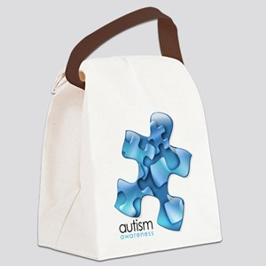 puzzle-v2-blue Canvas Lunch Bag