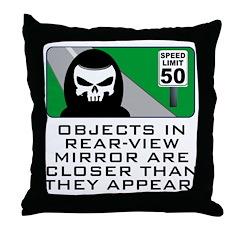 Grim View Throw Pillow