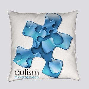 puzzle-v2-blue Everyday Pillow