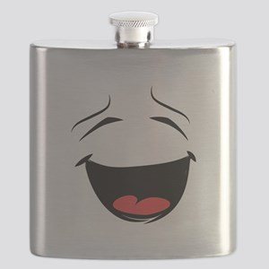 Happy Smiley Face Flask