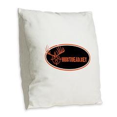 HuntDead.net Burlap Throw Pillow