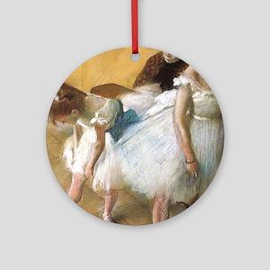 Vintage Ballet by Edgar Degas Round Ornament
