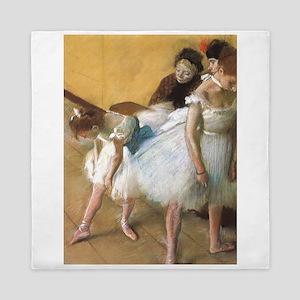 Vintage Ballet by Edgar Degas Queen Duvet