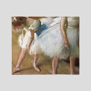 Vintage Ballet by Edgar Degas Throw Blanket