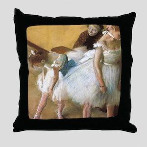 Vintage Ballet by Edgar Degas Throw Pillow