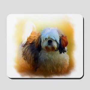 Shih Tzu Dog Portrait Mousepad