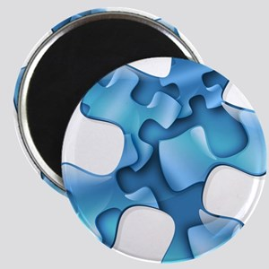 Autism Awareness Blue Puzzle Pieces Magnets