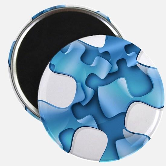 Autism Awareness Blue Puzzle Pieces Magnets