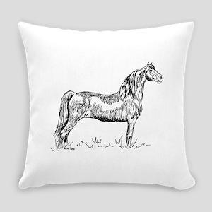 Morgan Horse In Pen & Ink-Everyday Pillow