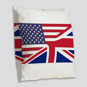 United Jack Burlap Throw Pillow