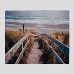 Walk To The Beach Throw Blanket