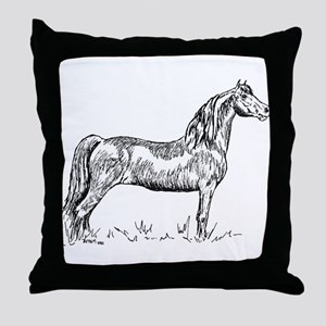 Morgan Horse In Pen & Ink Throw Pillow