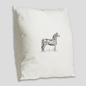 Morgan Horse In Pen & Ink Burlap Throw Pillow