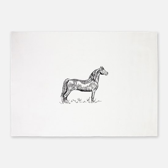 Morgan Horse In Pen & Ink 5'x7'area Ru