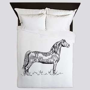 Morgan Horse In Pen & Ink Queen Duvet
