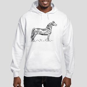 Morgan Horse In Pen & Ink Hooded Sweatshirt