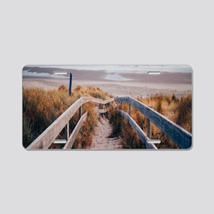 Walk To The Beach Aluminum License Plate