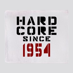 Hard Core Since 1954 Throw Blanket