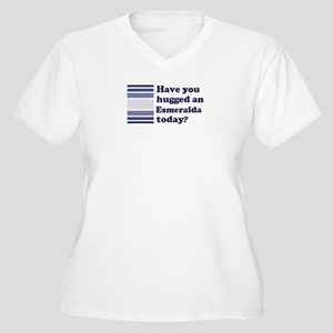 Hugged Esmeralda Women's Plus Size V-Neck T-Shirt