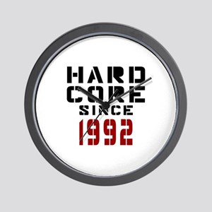 Hard Core Since 1992 Wall Clock