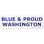 Blue and Proud: Washington Bumper Sticker