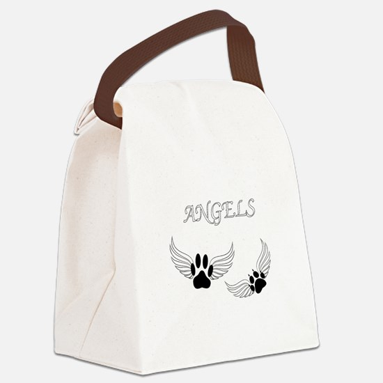 Angel Pet Paws Canvas Lunch Bag