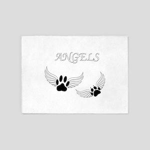 Angel Pet Paws 5'x7'Area Rug