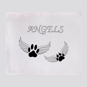 Angel Pet Paws Throw Blanket