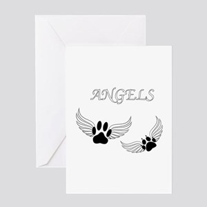 Angel Pet Paws Greeting Cards