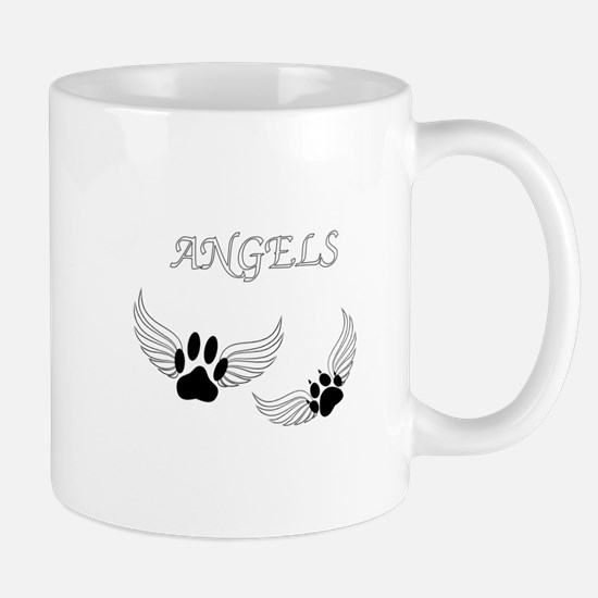 Angel Pet Paws Mugs