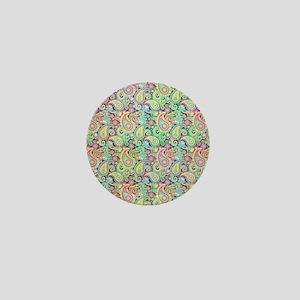 Spring paisley Mini Button