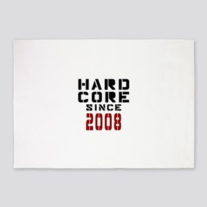Hard Core Since 2008 5'x7'Area Rug