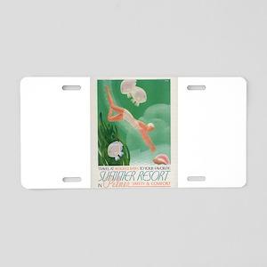 Vintage poster - Summer res Aluminum License Plate