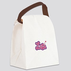 Lisa Name Personalized Canvas Lunch Bag
