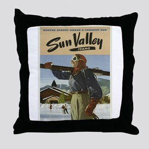 Vintage poster - Sun Valley Throw Pillow