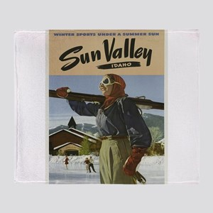 Vintage poster - Sun Valley Throw Blanket