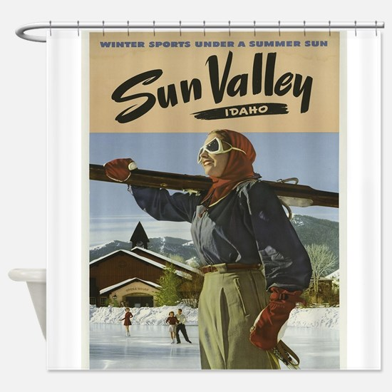 Vintage poster - Sun Valley Shower Curtain