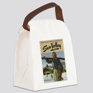 Vintage poster - Sun Valley Canvas Lunch Bag