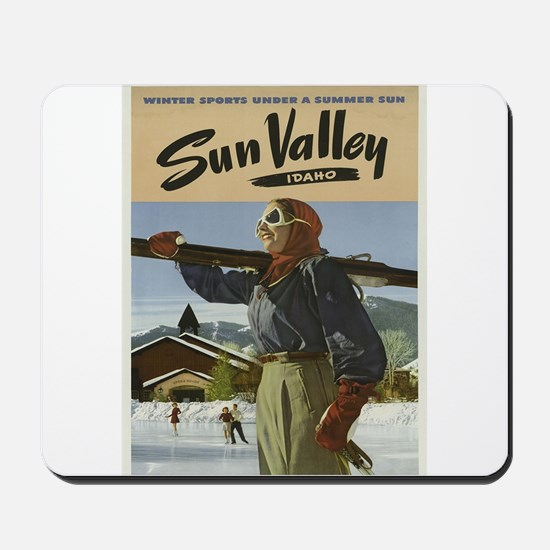 Vintage poster - Sun Valley Mousepad