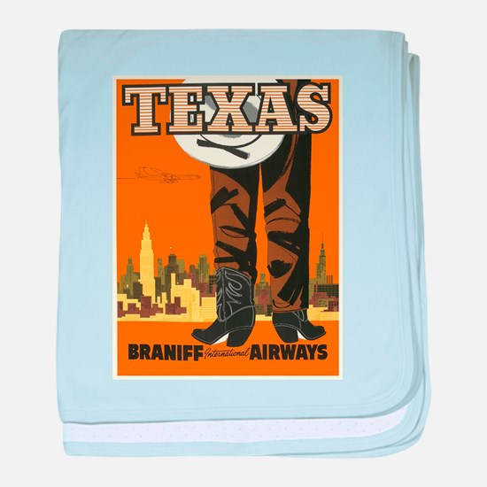 Vintage poster - Texas baby blanket