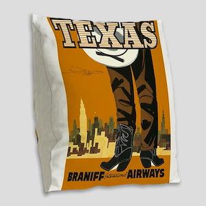 Vintage poster - Texas Burlap Throw Pillow