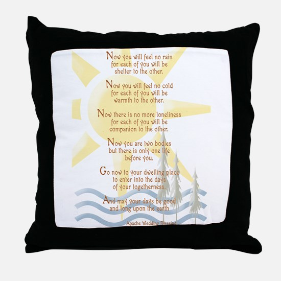 Apache Wedding Blessing Throw Pillow