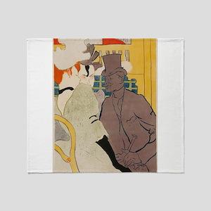 Vintage poster - Englishman at the C Throw Blanket