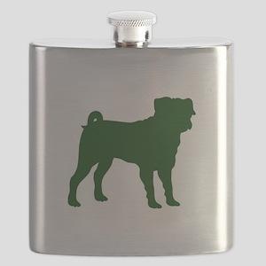 Pug Green 1C Flask
