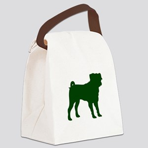 Pug Green 1C Canvas Lunch Bag