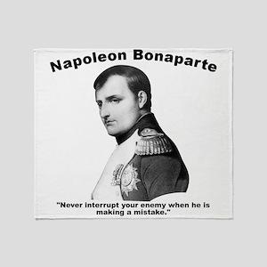 Napoleon Mistake Throw Blanket