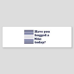 Hugged Niki Bumper Sticker