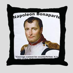 Napoleon Courage Throw Pillow