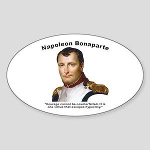 Napoleon Courage Sticker (Oval)