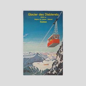 Glacier des Diablerets, Switzerland; Vint Area Rug